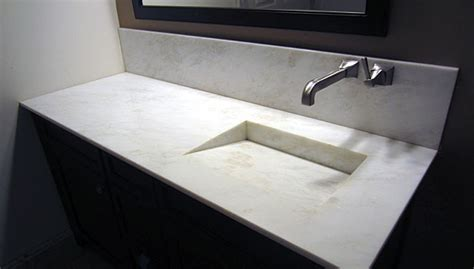 Small Powder Room - custom marble amp granite running the gamut of stone fabrication 2013 10 01 stone world