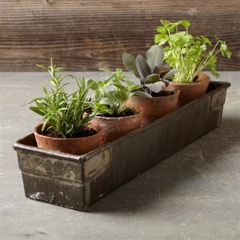 great idea for windowsill herb garden for the yard