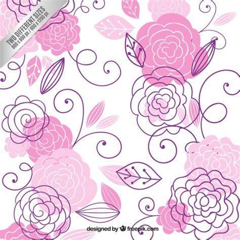 imagenes vectores para fondos dibujado a mano flores de color rosa fondo descargar