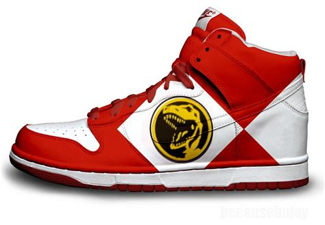 power rangers slippers power ranger nike dunks by becauseimjay on deviantart