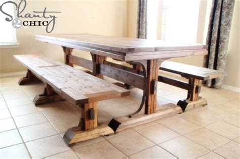 Dining Room Table Diy Plans Diy Rustic Dining Room Table Plans Woodguides
