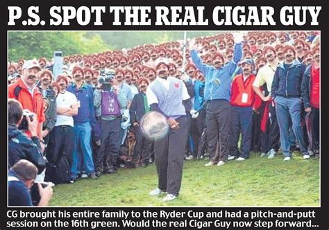 Cigar Guy Meme - cigar guy the man who stood behind tiger and became an