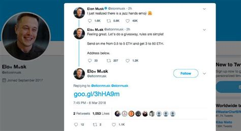 elon musk tweet no elon musk isn t giving away free cryptocurrency on