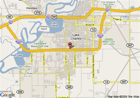 map of comfort inn lake charles lake charles