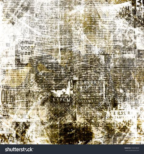 Newspapers Background Stock Illustration 294853400 Grunge Abstract Newspaper Background Design Stock Illustration 155819849