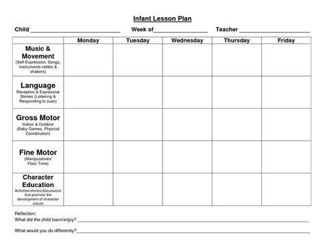 Child Care Lesson Plan Templates Google Search Places To Visit Pinterest Lesson Plan Lesson Plan Template For Child Care