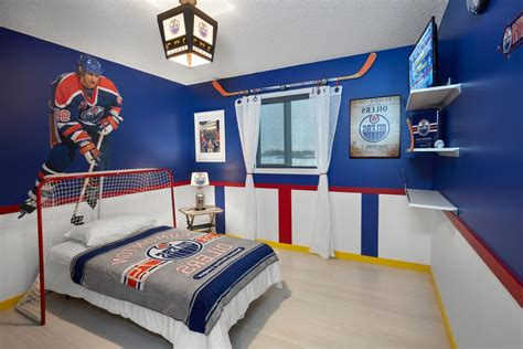 44 Best Hockey Room Ideas Hockey Bedroom Ideas Bedroom Modern With Nhl Wall Stickers