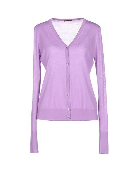 Cardigan Rajut Light Purple ballantyne cardigan in purple lyst
