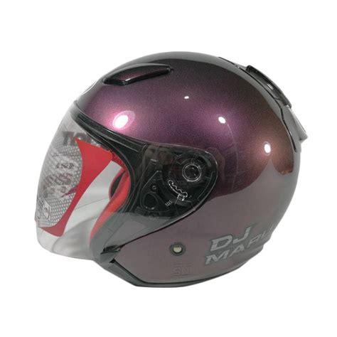 Helm Kyt Dj Maru Half jual kyt dj maru helm half purple harga kualitas terjamin blibli