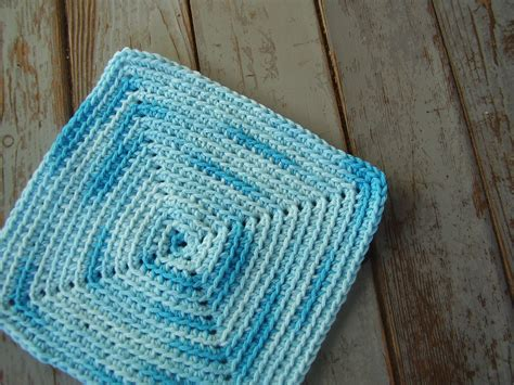 crochet pattern in square free pattern crocheted square washcloth freshstitches