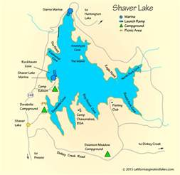 shaver lake map