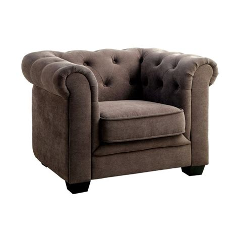 chester tufted upholstered sofa furniture of america chester tufted upholstered chair in