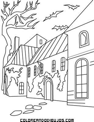 Pueblo fantasma para colorear - Dibujos para colorear
