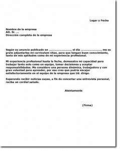 ejemplo de carta de presentacin para una empresa carta de presentaci 243 n para una empresa ejemplos de