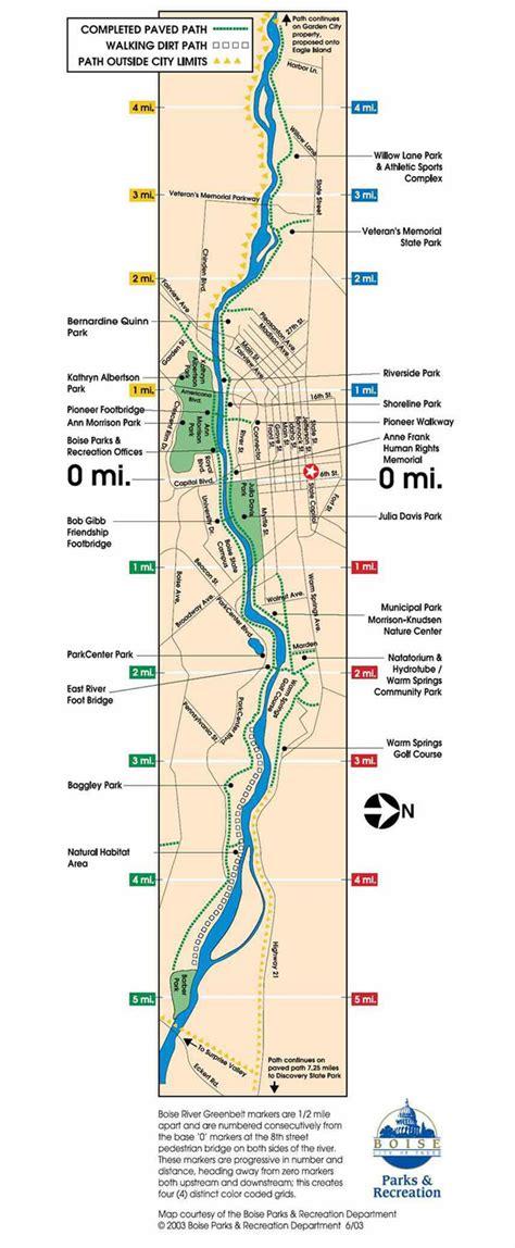 Garden City Greenbelt Boise Idaho Greenbelt Map Map