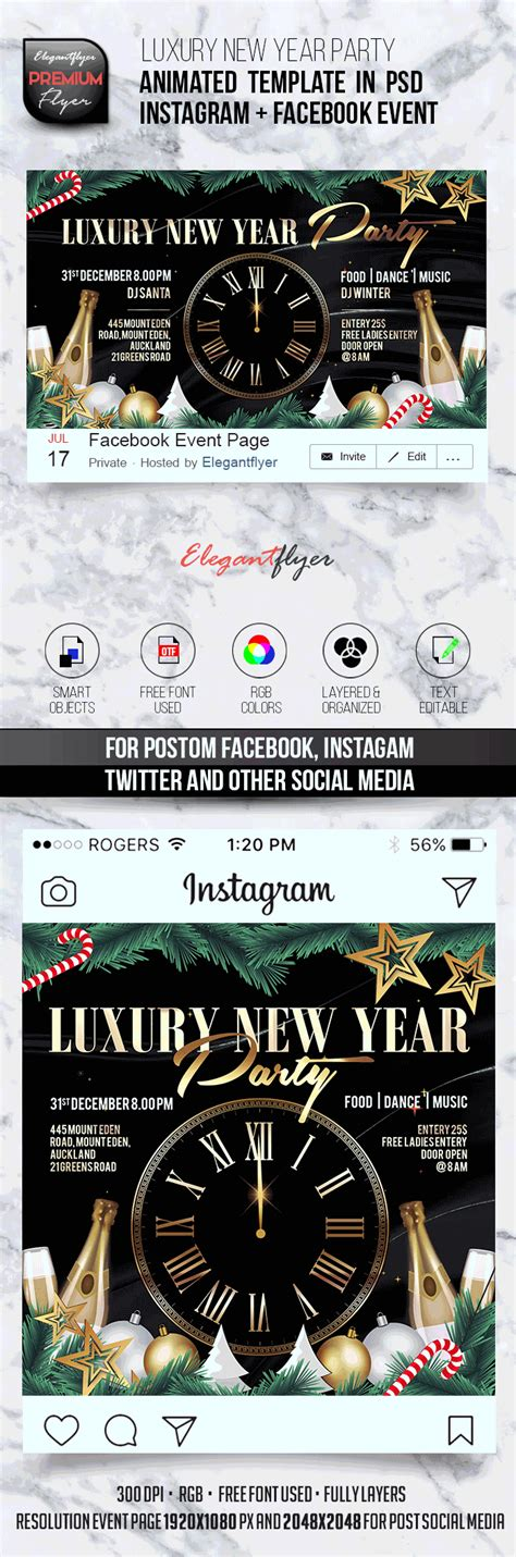 Animated Instagram Facebook Flyer Template By Elegantflyer Animated Flyer Templates