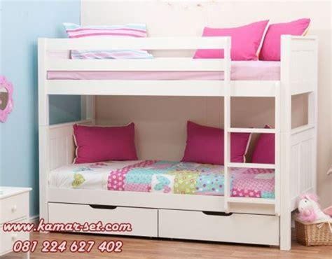 Ranjang Anak Perempuan ranjang susun anak perempuan putih kamar tidur sempit