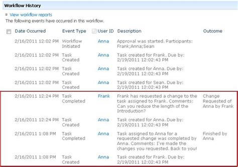 workflow history all about approval workflows sharepoint