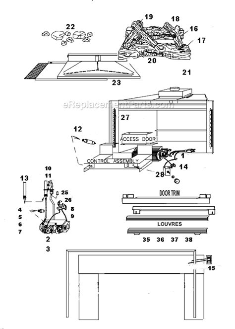 napoleon gi3016 p parts list and diagram