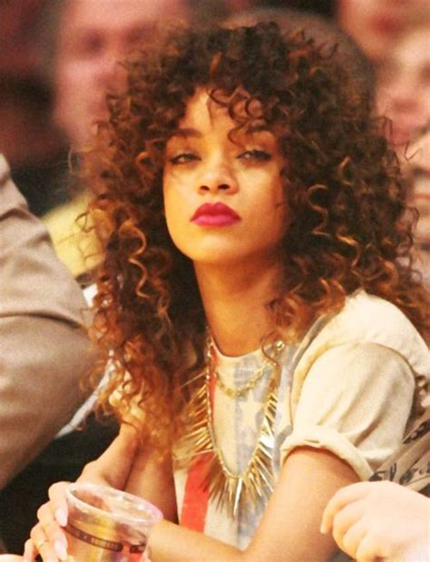 pics of rihana weaves rihanna curls this is probably a weave but its still a