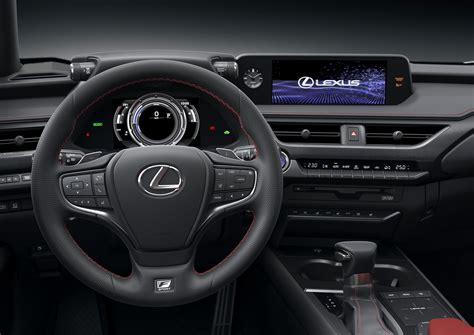 lexus crossover inside funky lexus ux crossover debuts with hybrid model
