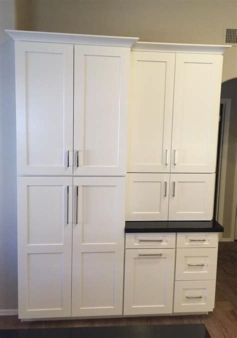 Pantry Door Styles by Waypoint Living Spaces Cabinetry Shown In 650f Shaker Door