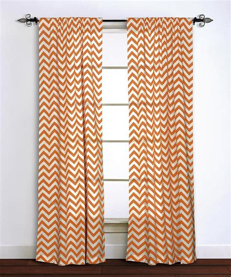orange chevron curtains orange chevron curtain panel modern curtains