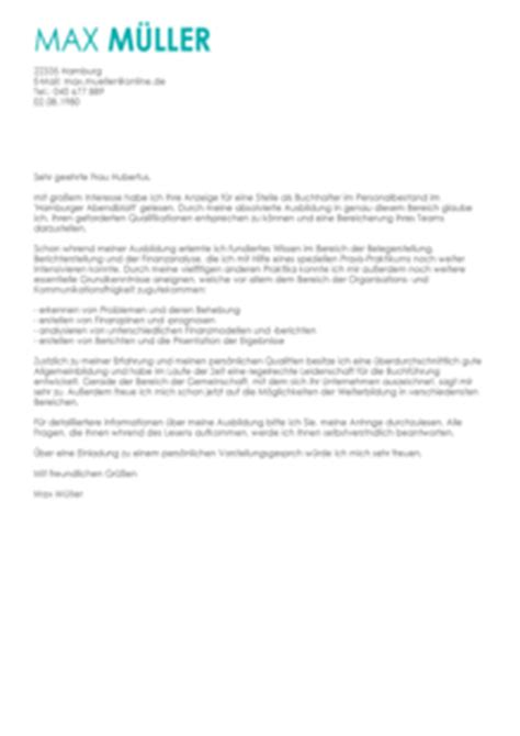 Anschreiben Bewerbung Buchhalter anschreiben personal buchhalter muster
