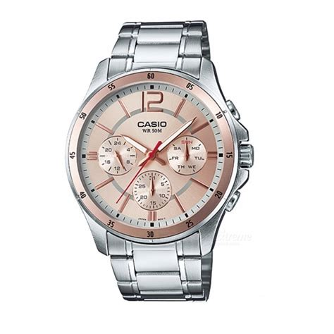 Casio Quartz Mtp 1247d 9avdf casio mtp 1374d 9avdf analog silver gold without box free shipping dealextreme