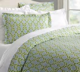Blue Green Duvet Cover Shay Organic Duvet Cover Sham Blue Green Pottery Barn