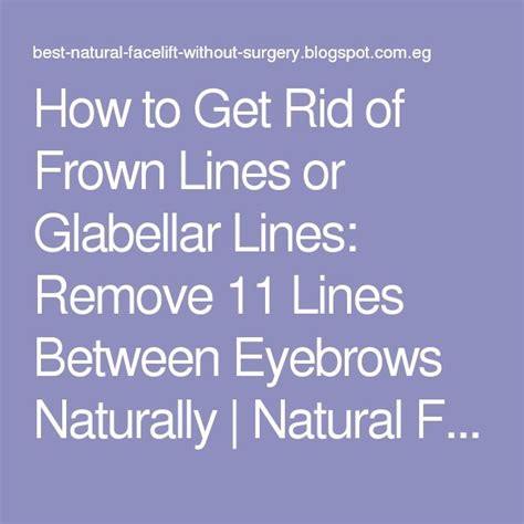 ho to disguise frown lines how to hide frown lines how to get rid of frown lines or