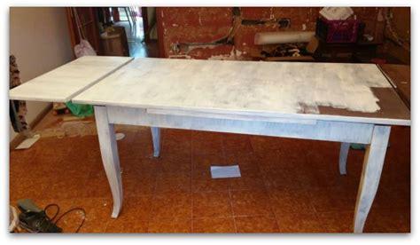 verniciare un tavolo di legno un tavolo shabby chic a modo mio