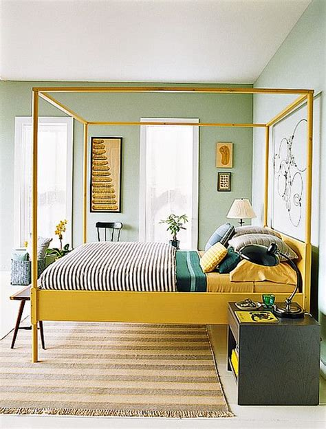Yellow And Green Master Bedroom Yellow Green Bedrooms Yellow Yellow Bed