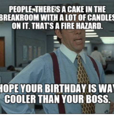 Office Space Birthday Meme - people thereisacake inthe breakroom with a lot of candles