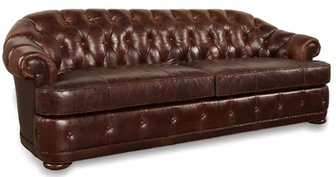 real leather chesterfield sofa kennedy button tufted walnut genuine leather chesterfield sofa