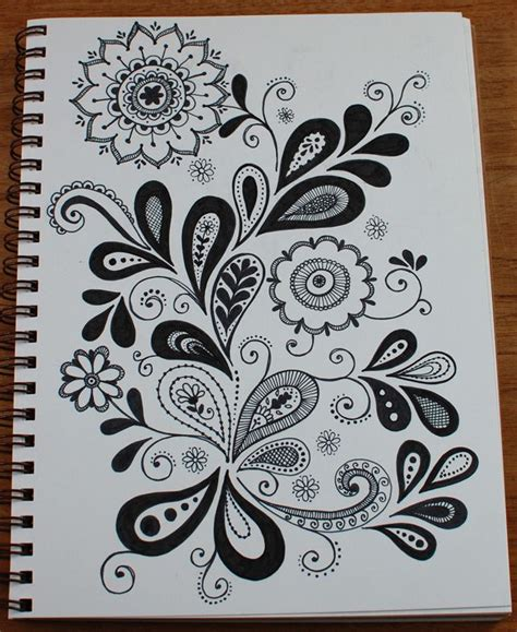 Sketches And Doodles by Paisley Doodle On Henna Doodle Flower Doodles