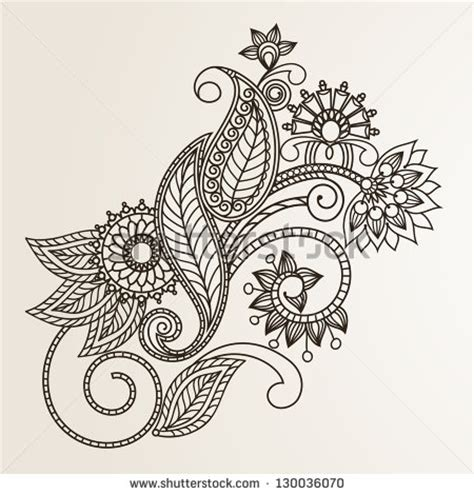 floral pattern design drawing stock images similar to id 115913623 floral pattern hand