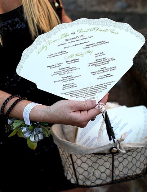 paper fan wedding programs wedding program fan by southern fried paper love this for