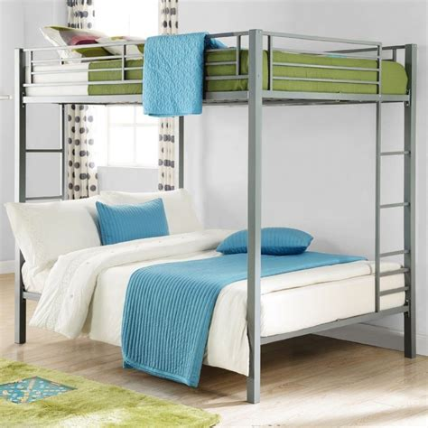 Bedroom Furniture Bunk Beds Metal Bunk Bed Silver Bedroom Furniture Bunkbeds New Ebay