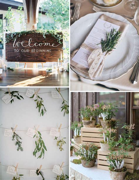 wedding decorations uk the new rustic herb greenery wedding decoration ideas onefabday uk