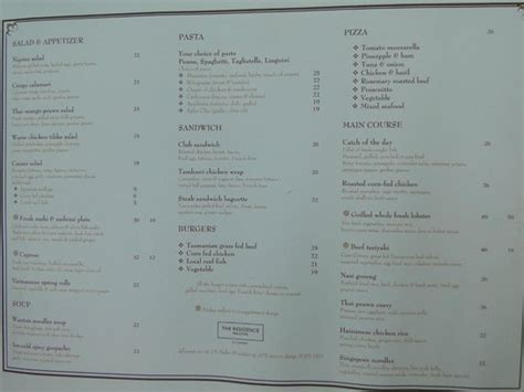 conrad maldives restaurant menus and review lunch menu at the beach bar picture of the residence