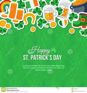 patricks day greeting card stock vector image 64940278