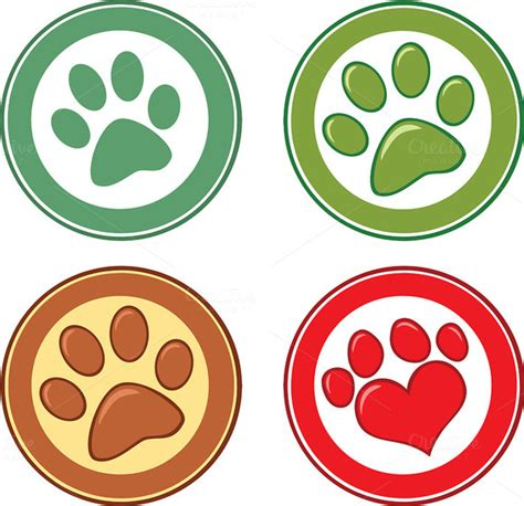 Circle Dogs stock graphic paw in circle collection 187 logotire