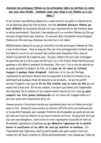 La Haine Essay by As German Germ1 Essay Fernsehen Vorteile Und Nachteile By Paul 1982 Teaching Resources Tes