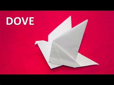 How To Make A Dove Out Of Paper - how to make a paper dove with flapping wings origami