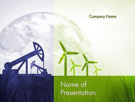 Green Energy Powerpoint Template Renewable Vs Nonrenewable Energy Powerpoint Template Energy Powerpoint Templates