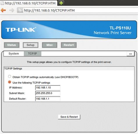 ubuntu setup printer server how to install print server manually on ubuntu os tp link