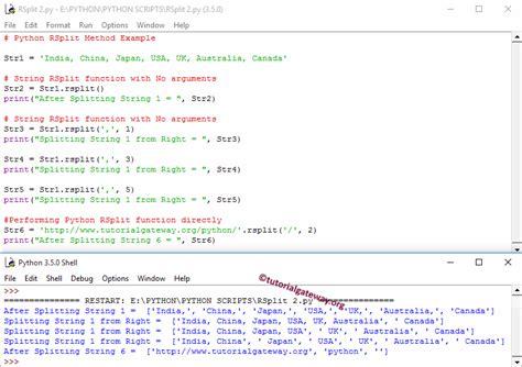 tutorial python split python rsplit string function