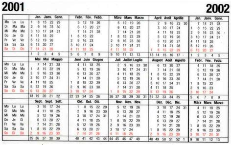 Calendrier De 2001 Schmid Production Production Vitamine