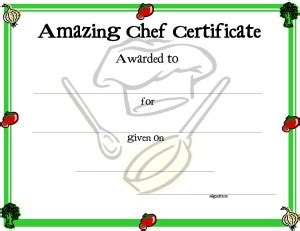 chef template certificate template for free printable certificate